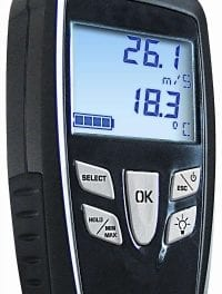 Thermo-Anemometer Measures Air Velocity Up to 8,000 FPM