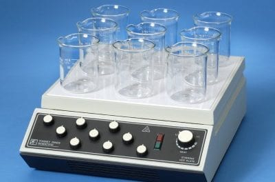 Analog Stirring Hot Plates and Stirrers Feature Individually Controlled Vessels