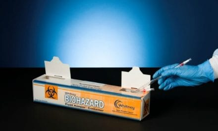Pipet Keeper Disposes of Contaminated Items Up to 15 Inches Long