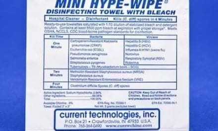 Mini Bleach Towelettes Disinfect Coagulation Devices