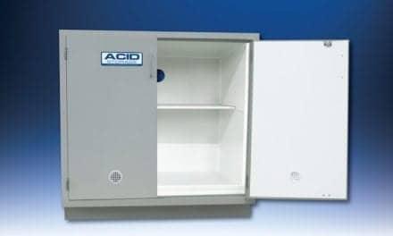 Acid Storage Cabinet Handles Corrosive Chemicals