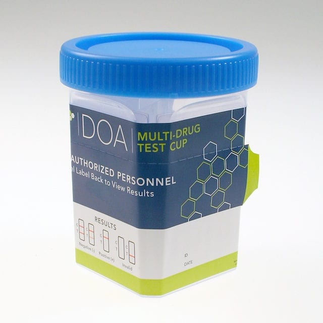 Multidrug Test Cup Optimized for Drugs of Abuse Urine Screening