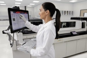 Figure 5. The Atellica Solution by Siemens Healthineers incorporates data handling capabilities that support the development of an artificial intelligence environment in the clinical lab.