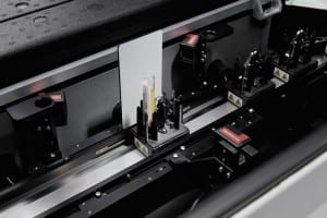 Figure 7. The Atellica Solution's three-camera vision system automatically determines special handling needs for each sample tube.