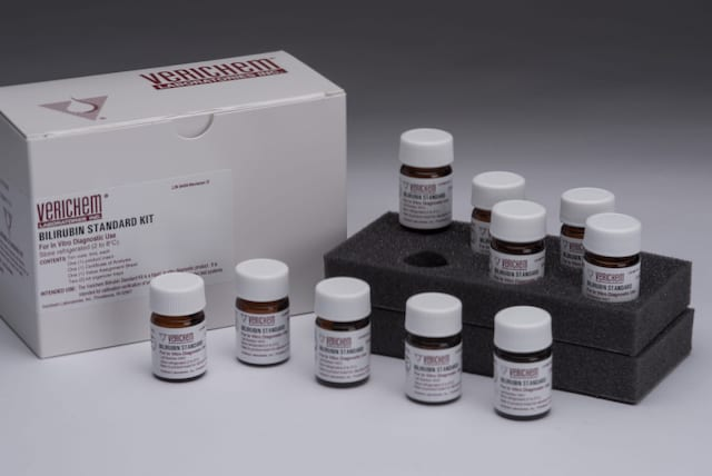 Verichem Offers Extensive Reference Materials Line for Bilirubin Testing