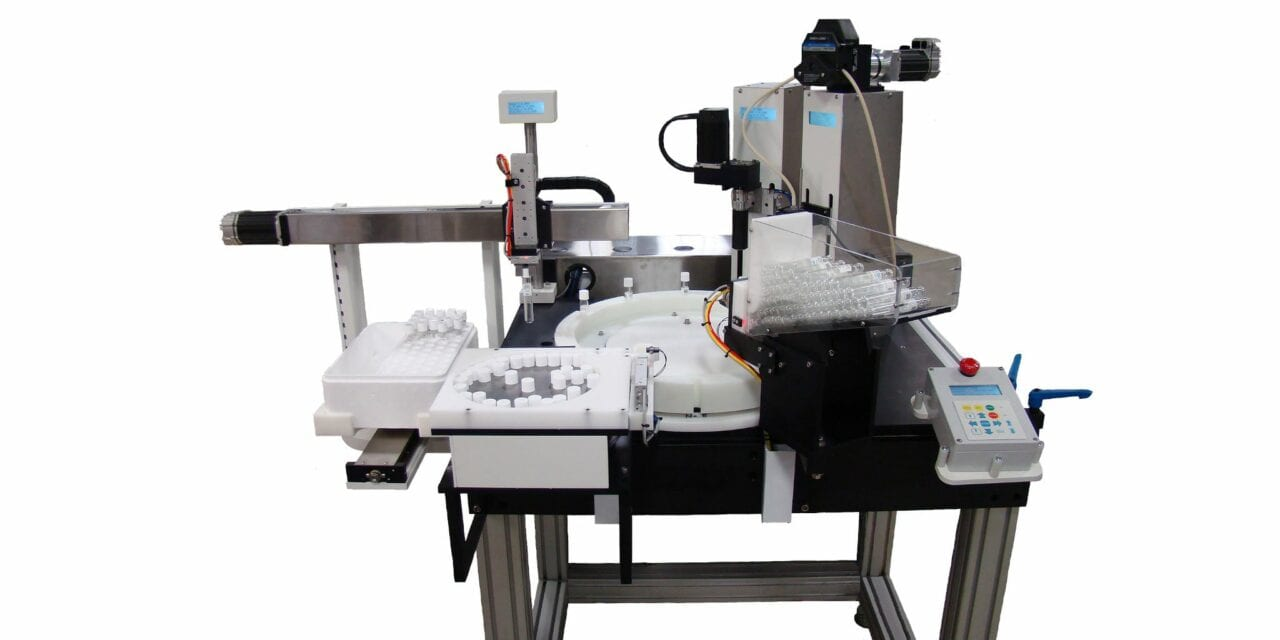 Ring Dex Robot Automates Vial and Bottle Filling, Capping