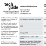 May 2021 Tech Guide: Clinical Chemistry and Integrated Analyzers